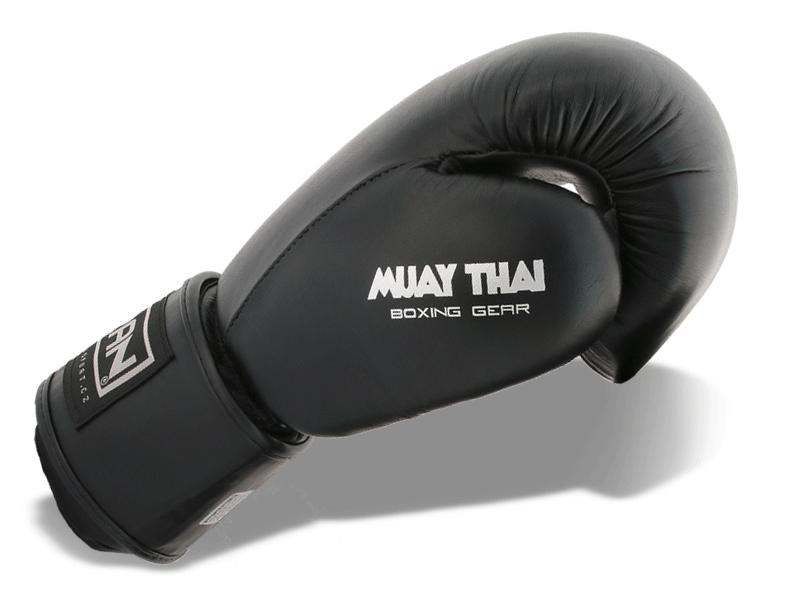 Kvalitní kožené rukavice v černostříbrném provedení.