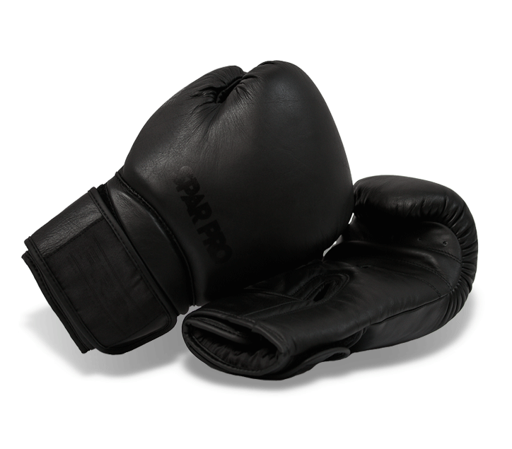 "Boxerské rukavice SPARPRO  (14oz-16oz) ""All Black"" -  II. jakost"