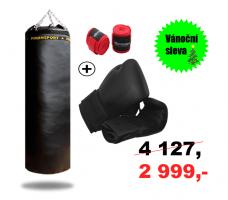 Boxovací pytel 40/120+Box. rukavice Bulldozer+2,5m průžná bandáž